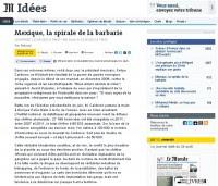 La publicación en la página web de Le Monde.