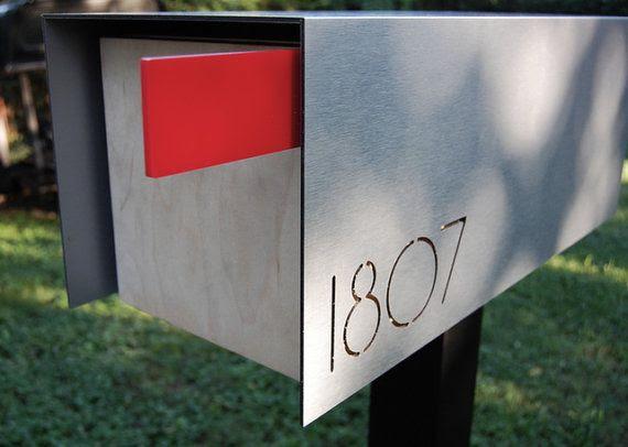 standing metal finishing modern mail box