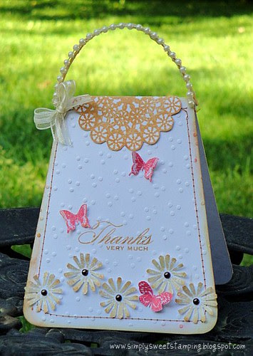 Flowers and Butterflies Purse Card