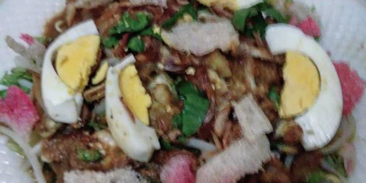 Resep Salad Medan, Tahu Goreng Kuah Kacang Oleh Shafira Frida