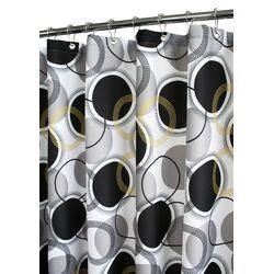 Watershed Geo Squares Shower Curtain in Azure   Wayfair