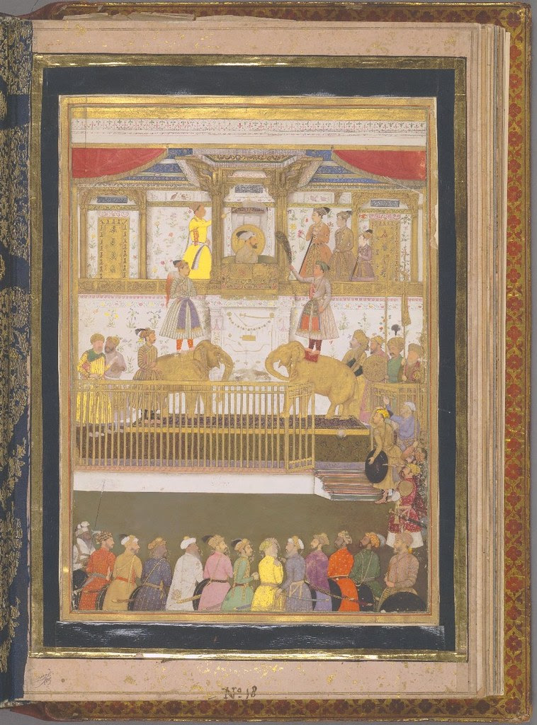 Shah Jehan and his court - 17th cent. Indian ruler's manuscript
