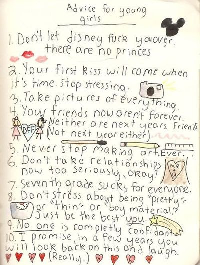 Advice For Young Girls Inspiring Quotes And Sayings Juxtapost