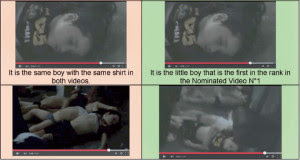 Same footage is used in different videos with different scenarios, according to the report. Photo from Mother Agnes report to UN.