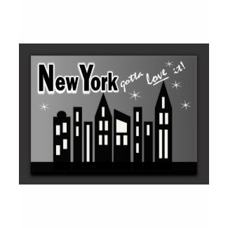 New York--Gotta Love It! With Cute Buildings shirt