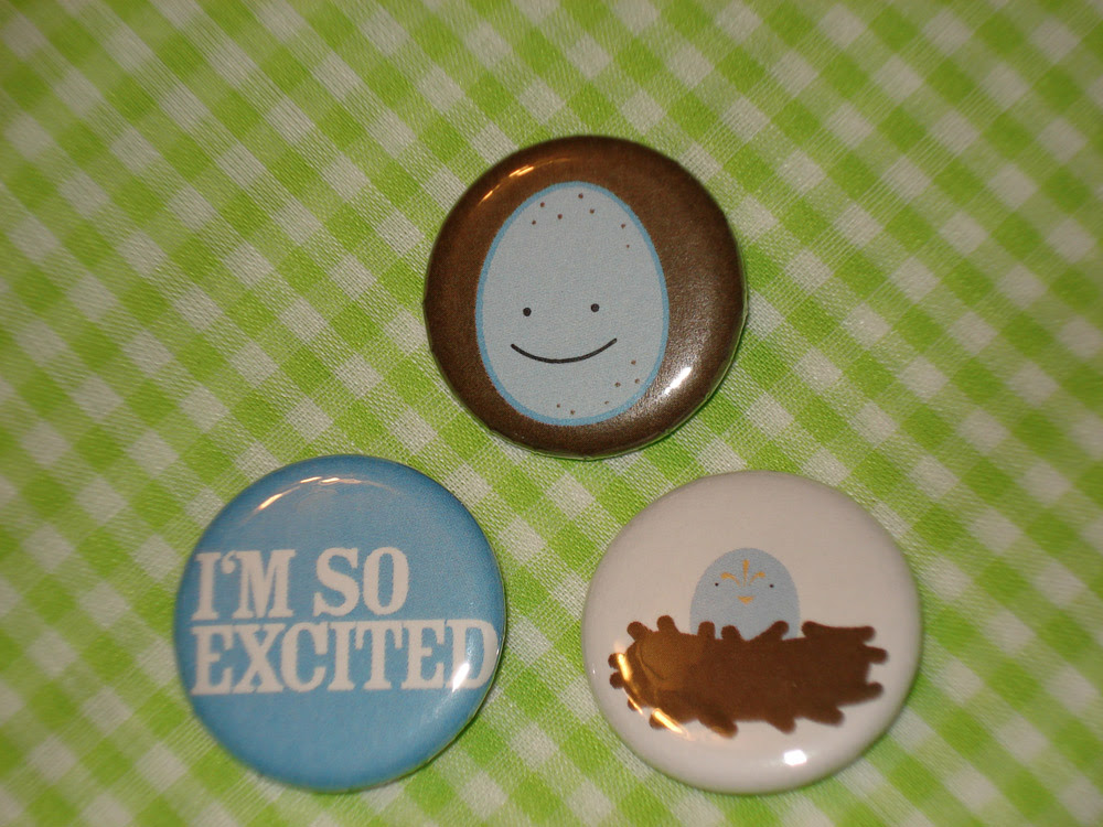 Excited Egg Buttons