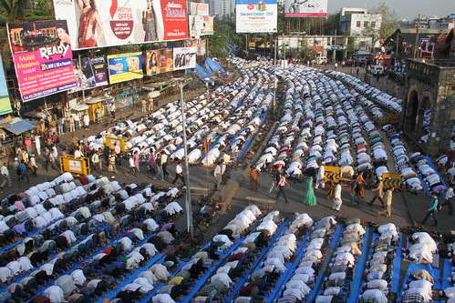 The Eid Ul Adha Namaz At Bandra Station  2012 by firoze shakir photographerno1