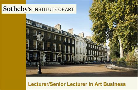 job senior lecturer  art business  sia london