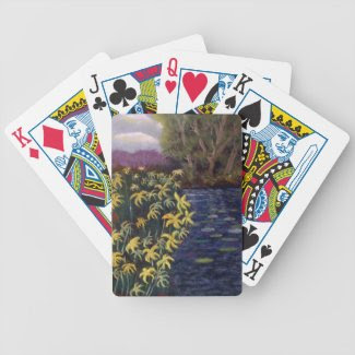 Yellow Flowers and Riverbank Card Decks