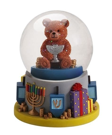 Hanukkah Kid's Gifts Child's Hanukkah Teddy Bear Snow Globe