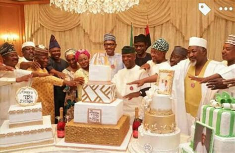 Cakes, Cards and Songs! Photos from President Buhari's