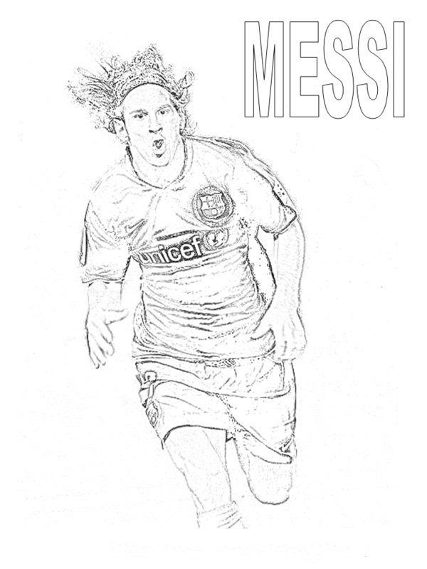 Lionel Messi Coloring Page | 800x600