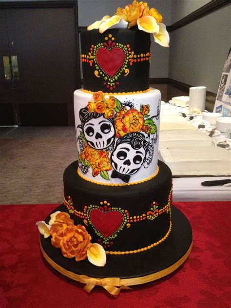 Day of the Dead wedding cake   Wedding Ideas   Pinterest
