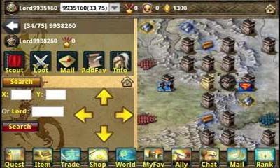Screenshots of the Emross War for Android tablet, phone.