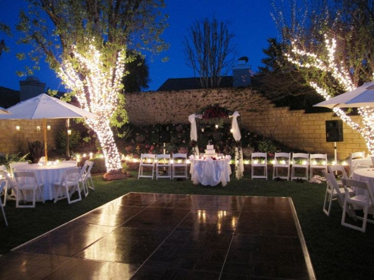 Back Yard Wedding Lighting Ideas