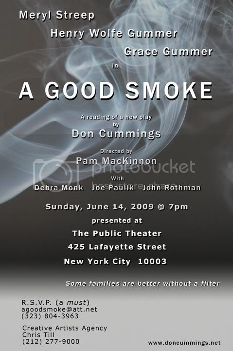 A Good Smoke at the public Theater