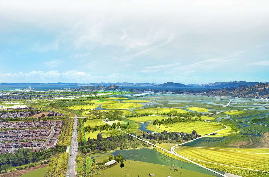 Leader's vision of that area of Richmond as an environmental park. Photo: Tom Leader Studio