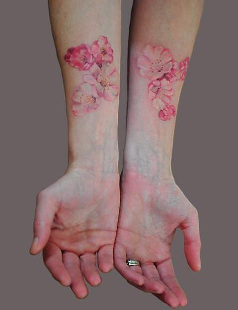 Cherry Blossom Tattoo On Hands Design Of Tattoosdesign Of Tattoos
