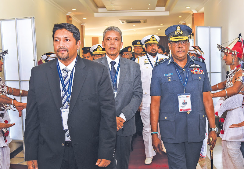 The Colombo Air Symposium–2017 organised by the Sri Lanka Air Force commenced at Ratmalana yesterday morning under the patronage of State Defence Minister Ruwan Wijewardene and Defence Ministry Secretary Kapila Waidyaratne, PC. Members of the Diplomatic Corps and senior military officials were also present. Picture by Gayan Pushpika