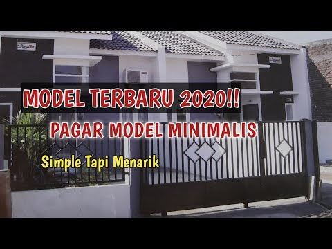 berikut pagar rumah model minimalis terbaru , terbaru!
