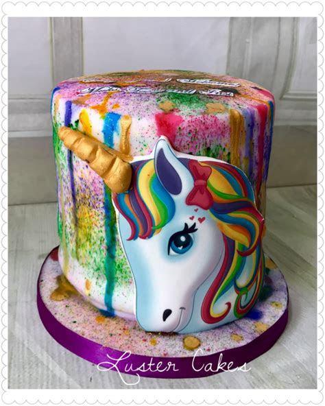 Rainbow Unicorn Cake   Luster cakes, best cake maker