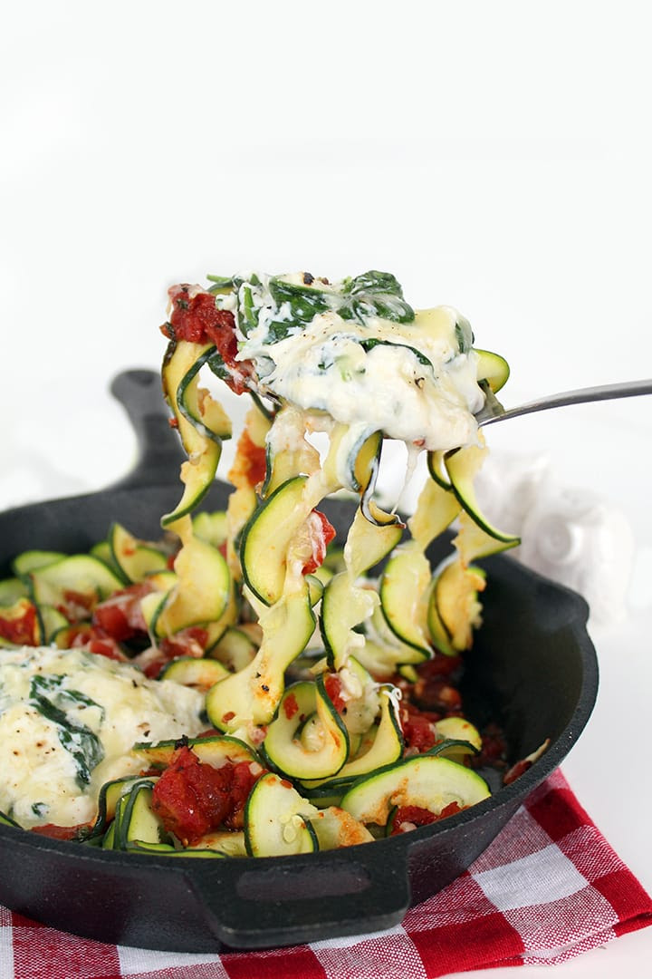 Deconstructed Manicotti Skillet with Zucchini Noodles  Inspiralized