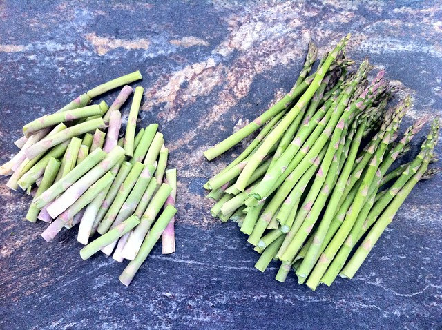 Ends Removed from Asparagus