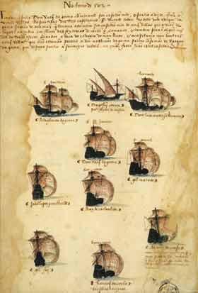 File:Gama squadron of 1502 Armada (Livro das Armadas).jpg