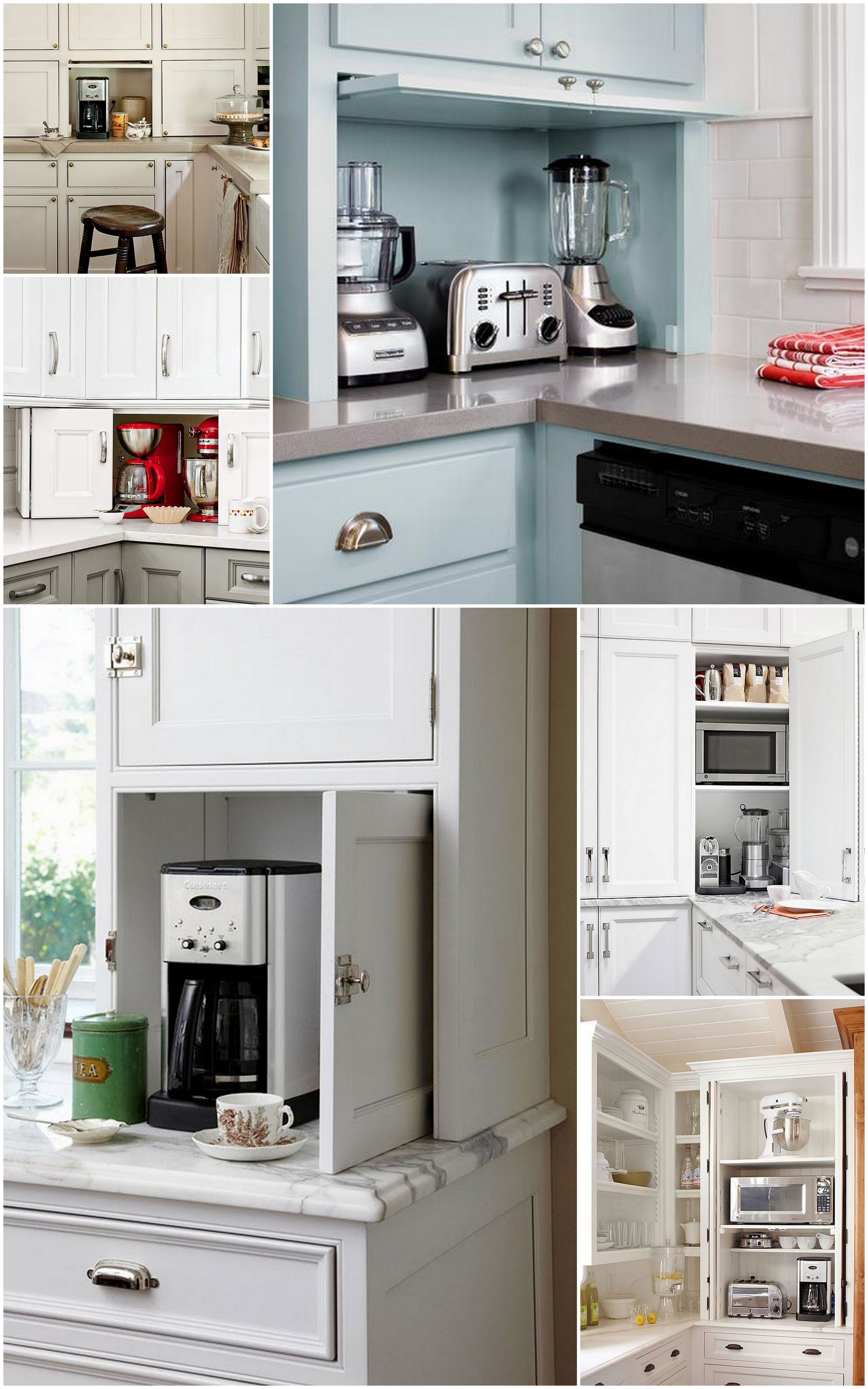 The Ideal Kitchen: Appliance Storage | Live Simply by Annie