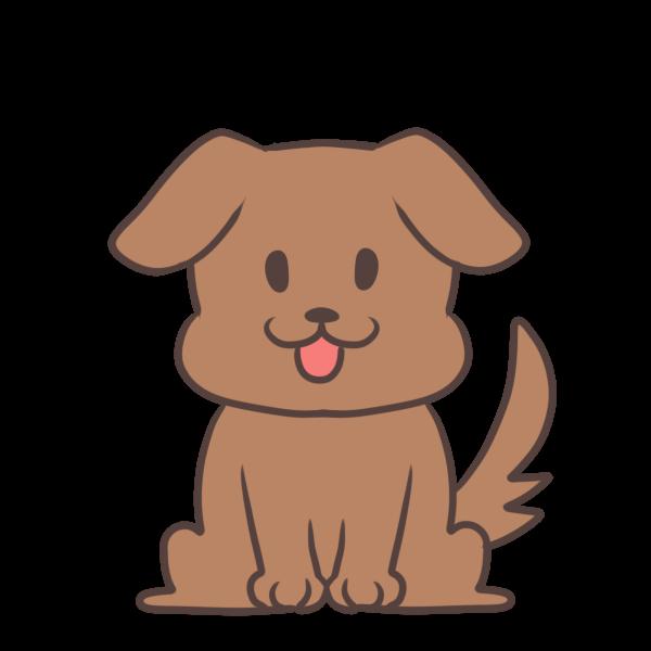 耳がたれた犬のイラスト かわいいフリー素材が無料のイラストレイン