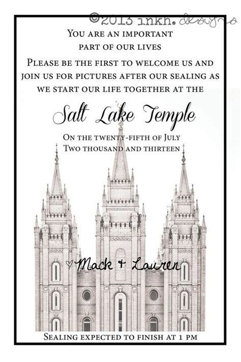 After The Temple LDS Printable Invitation by INKHdesigns