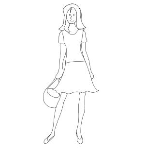 Vestidos Para Colorear
