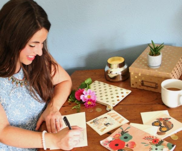 Nothing makes someone's day like a handwritten hello & pretty papergoods