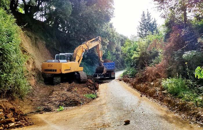 Άρτα: Αποκατάσταση επαρχιακού οδικού δικτύου στην Πέρα Καλεντίνη