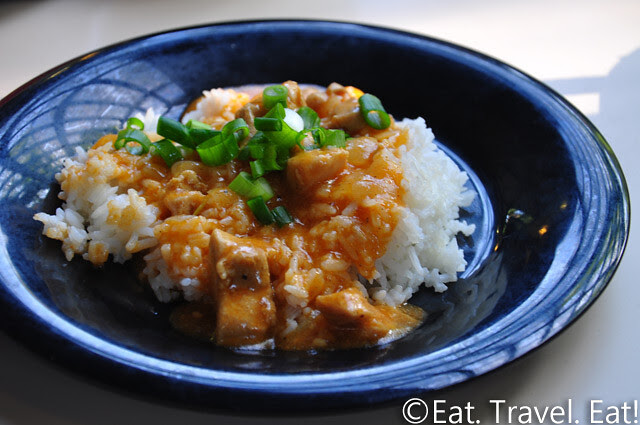 UC Irvine Pippin Commons- Irvine, CA: Thai Red Chicken Curry on Steamed Rice