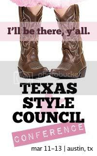 Texas Style Conference - badge by PrettyShinySparkly.com