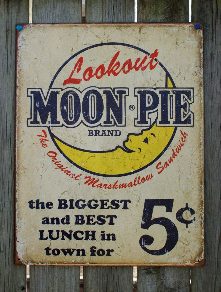 Lookout Moon Pie Ad Tin Sign Garage Vintage Style Home ...