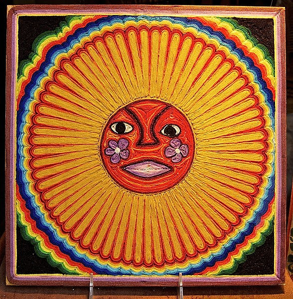 File:Huichol string art sun.jpg