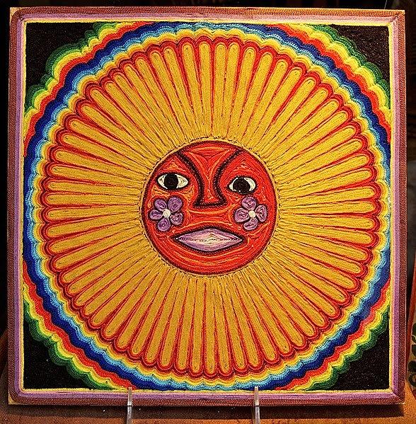 File:Huichol string art sun.jpg