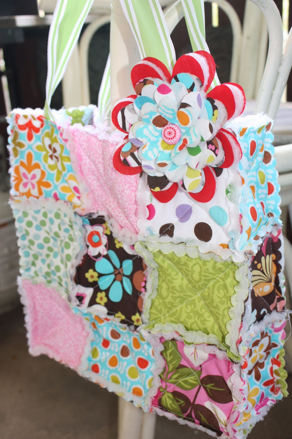 Spring Melody Rag Quilt Bag - Ready to Ship