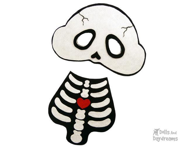 halloween skeleton gothic diy costume