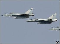 Avión de combate (foto de archivo)