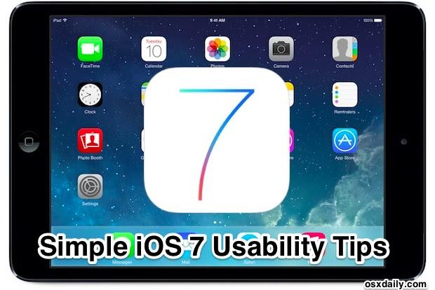 iOS 7 Usability Tips