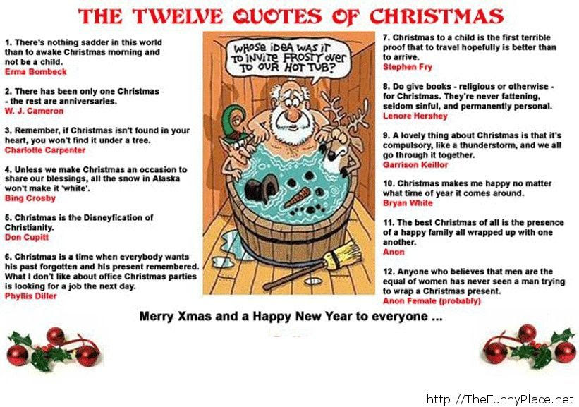 Xmas Quotes Funny Thefunnyplace