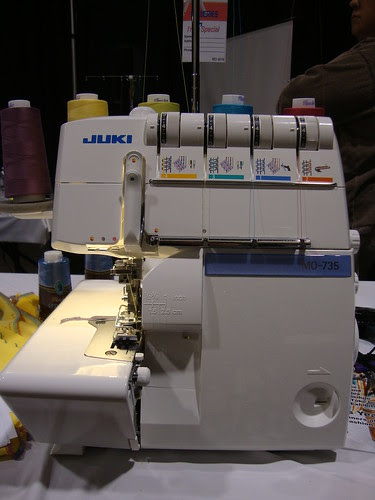 my serger this morning