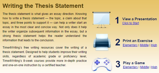 how to write a thesis statement (beginner)