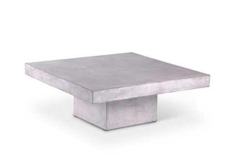 Una Square Concrete Dark Gray Coffee Table