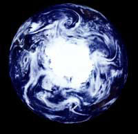 Mosaic satellite view of the Earth's southern pole