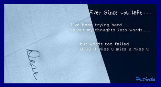 Ever Since You Left Free Miss You Ecards Greeting Cards 123