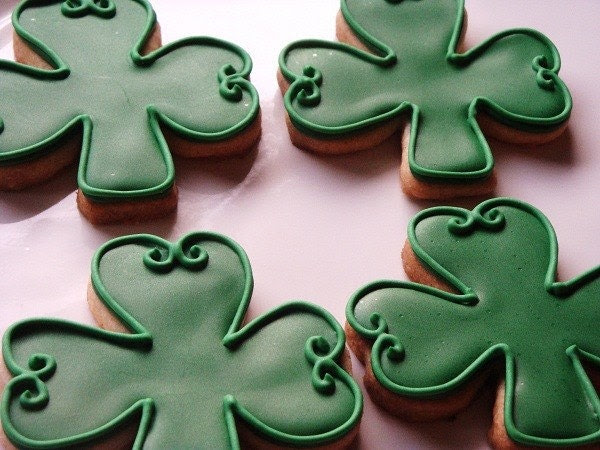 Shamrock Cookies by The Fancy Lady Gourmet on Etsy